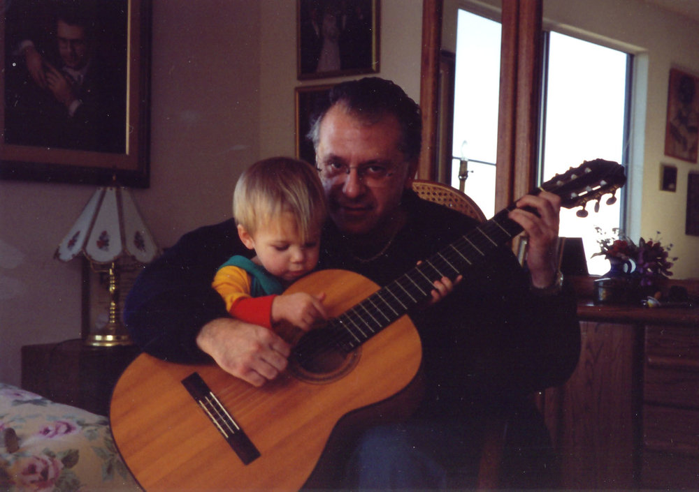 With grandson Jacob, 1997