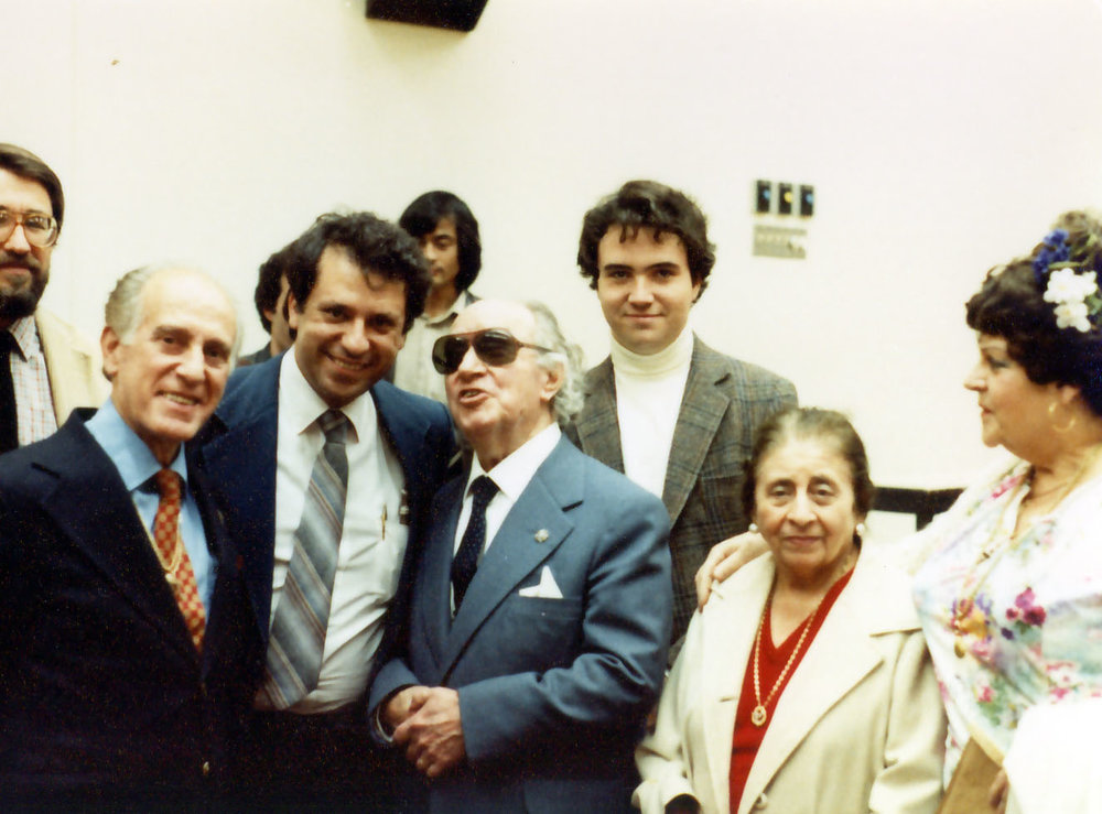 Celedonio, Pepe, Joaquín Rodrigo, his wife, Victoria Kamhi and Angelita Romero