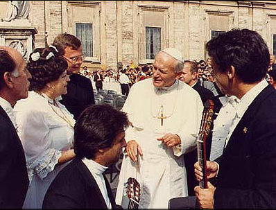 With Pope John Paul II in Vatican City