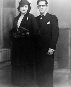 Wedding photo of Angelita and Celedonio, Malaga 1933