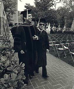 Pepe with Joaquin Rodrigo, who was receiving honorary  doctorate from University of Southern California.