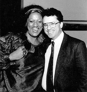 Pepe with soprano Jessye Norman.
