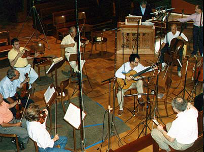 Recording Vivaldi concertos with members of I Musici.