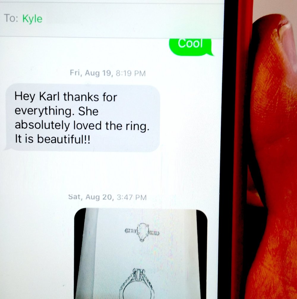 shot of text message on Karl's phone re ring.jpg