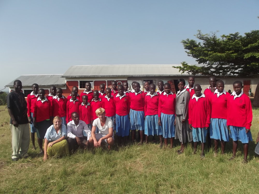 Jess with the school based in Ndhiwa,Kenya