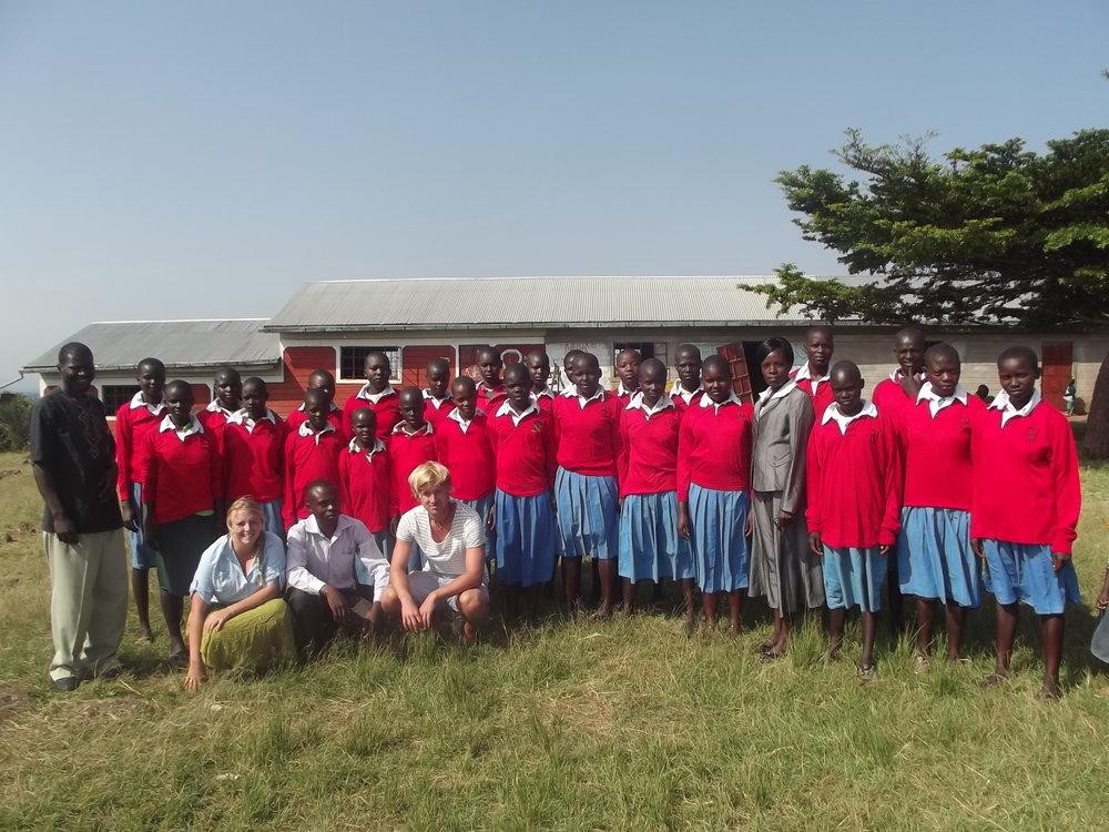 Jess with the school based in Ndhiwa, Kenya