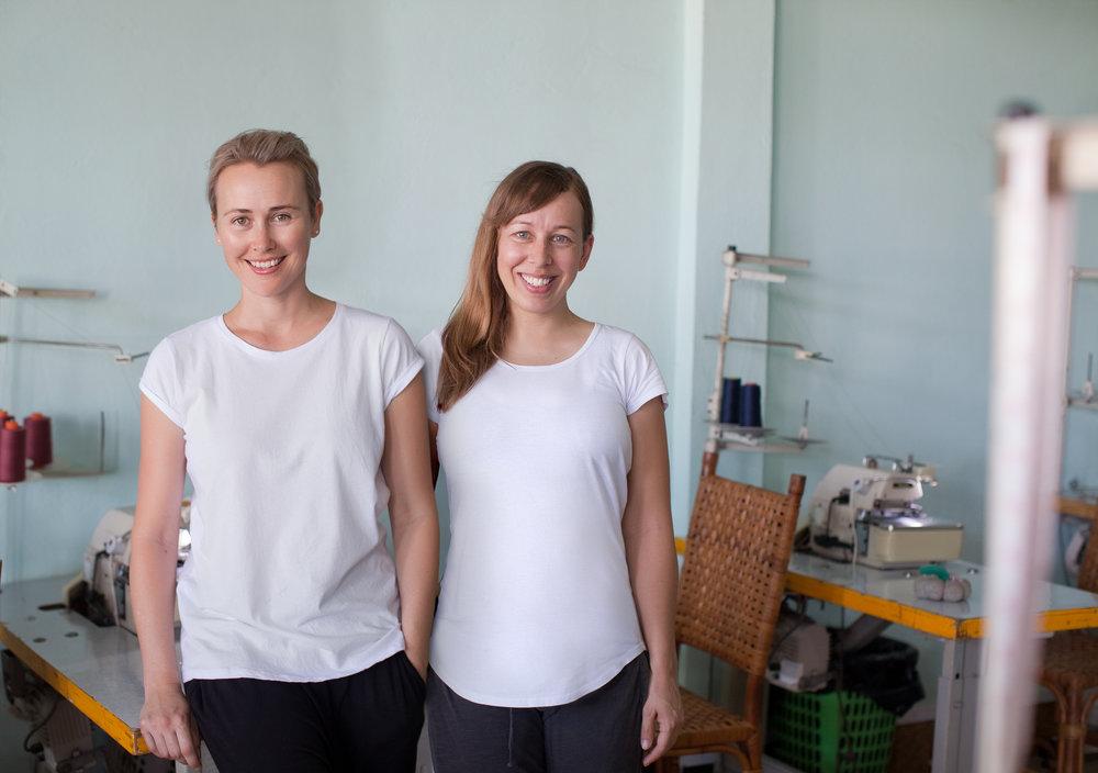 Deborah (left) with her co-founder Erica Gadsby