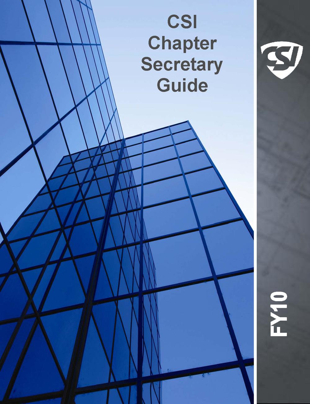 CSI Chapter Secretary Guide - (PDF FORMAT)