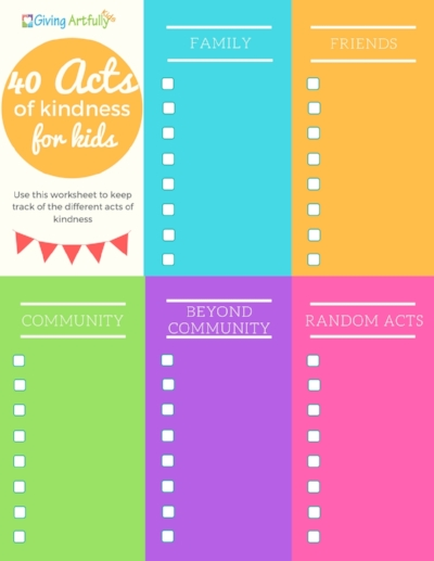 40 Acts of Kindness Tracker