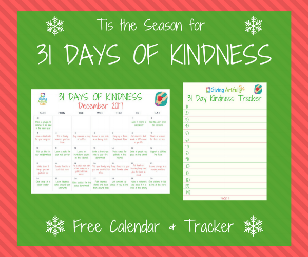 Kindness Acts Calendar and Tracker