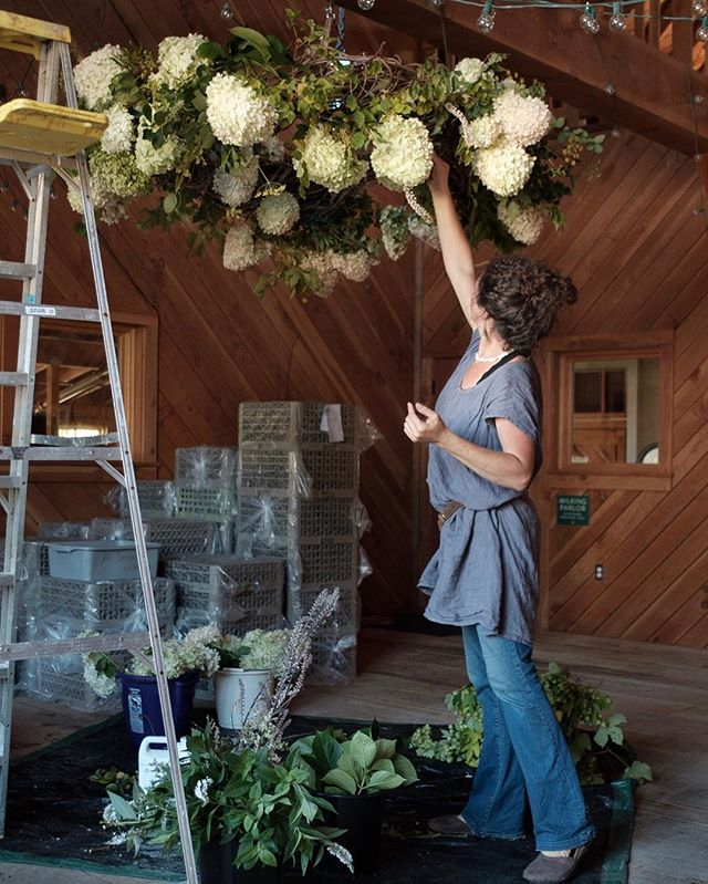 Caught in action yesterday setting up for a rehearsal dinner @heydayfarmhouse  More installations today for the big day! ✨✨ Photo by @Shaun_S