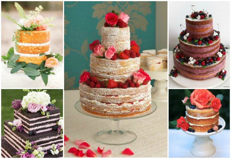 wedding inspiration - the naked cake - grace and serendipity
