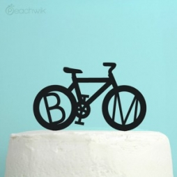 grace and serendipity - cake toppers - bike cake topper