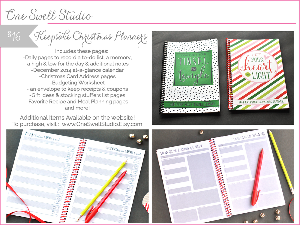 one swell studio - keepsake christmas planner - shop small