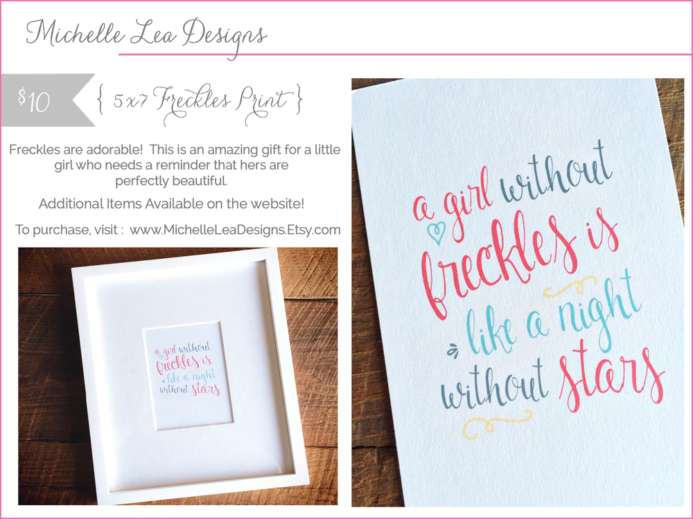 michelle lea designs - freckles print - shop small