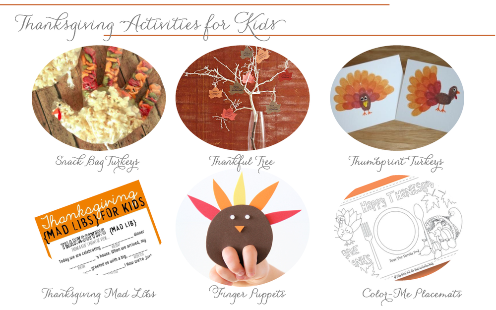 grace and serendipity - thanksgiving kids activities