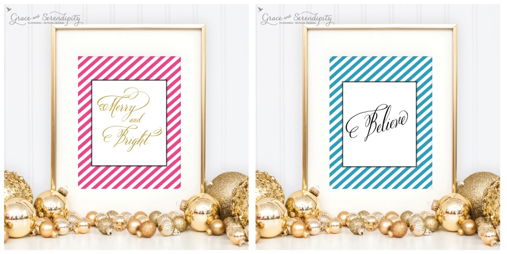 grace and serendipity - holiday collection merry and bright + believe