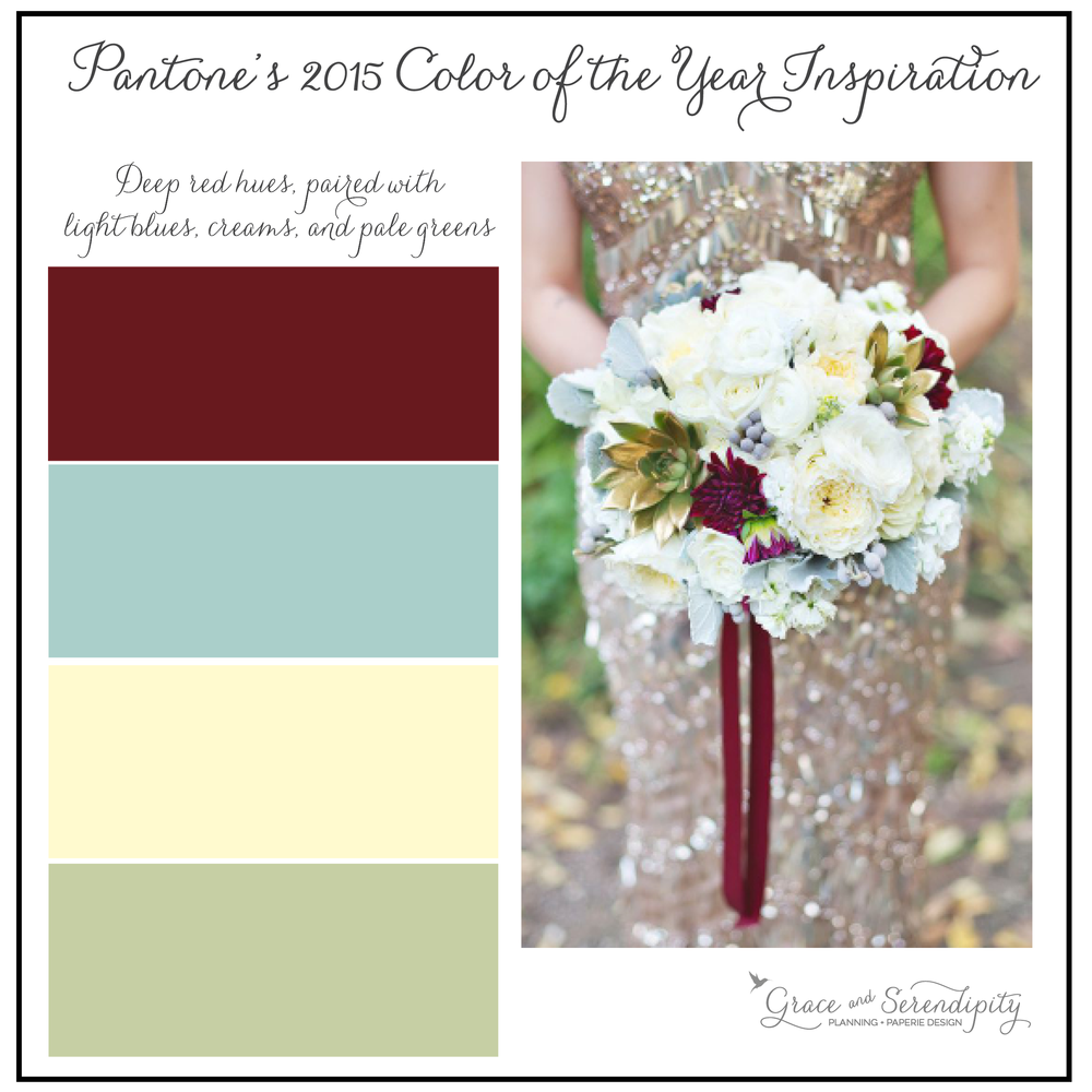 grace and serendipity - marsala inspiration board - burgundy, mint, cream, green