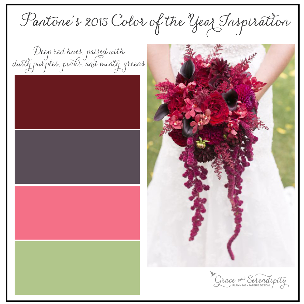 grace and serendipity - marsala inspiration board - burgundy, purple, pink, green