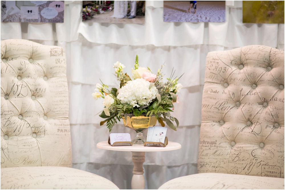 Bridal Expo - 2015 - Pensacola - Grace and Serendipity, Pensacola Wedding Planner booth design