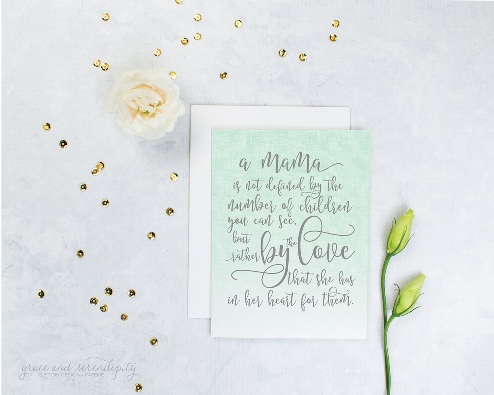 miscarriage encouragement card by grace and serendipity