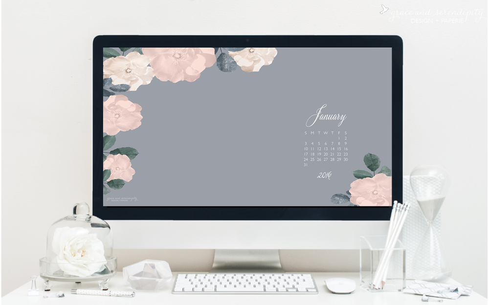 Free Download // January Desktop and iphone Wallpapers
