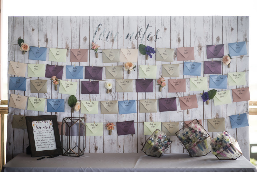 Guestbook Love Notes Wall - by Grace and Serendipity