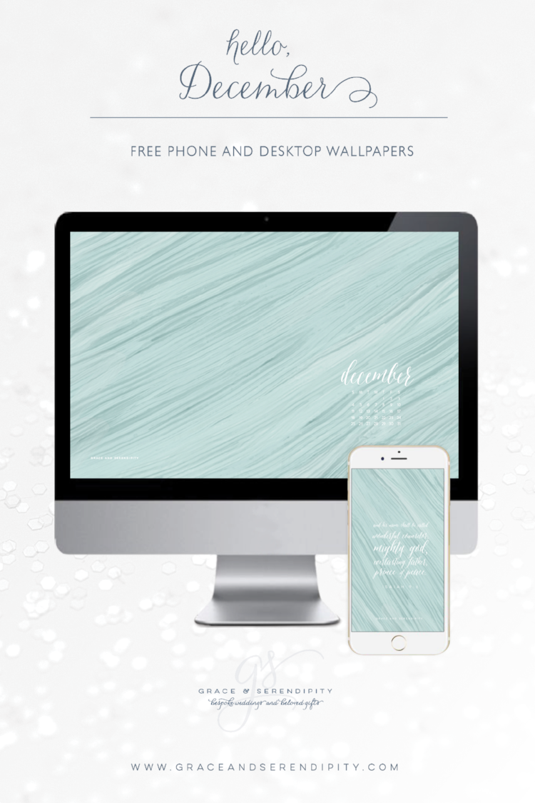 Free December Phone and Desktop Wallpapers by Grace and Serendipity