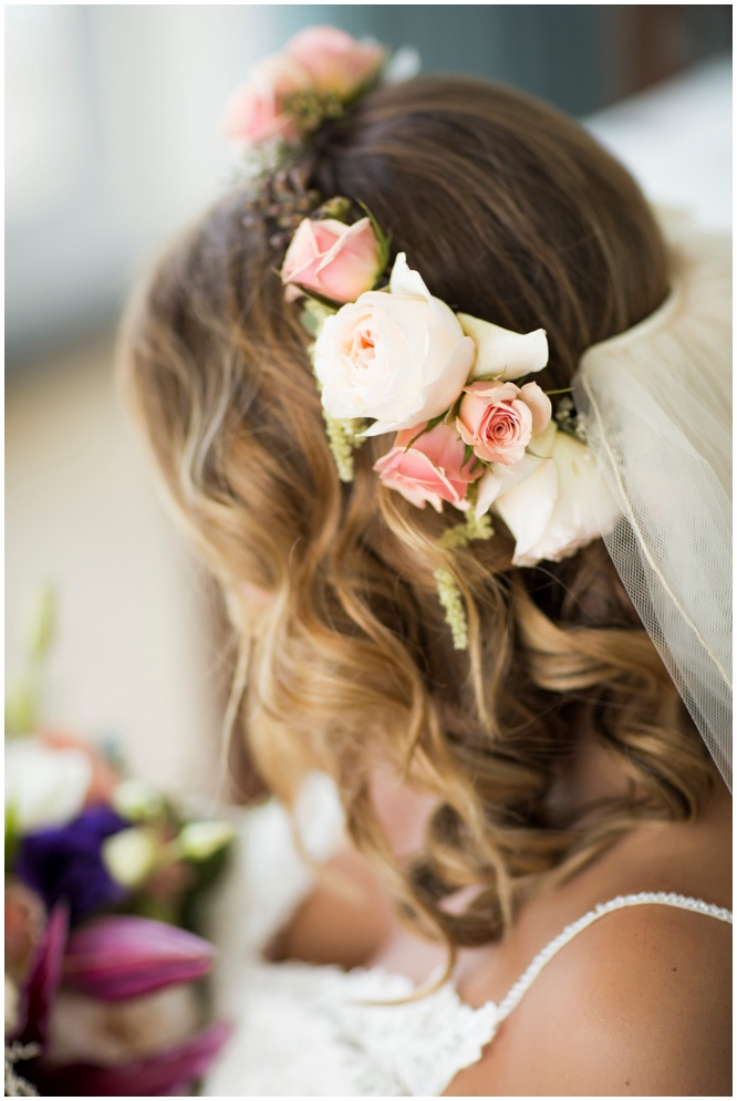 Flower Crown for Bohemian Beach Wedding in Pensacola Beach by Fiore of Pensacola