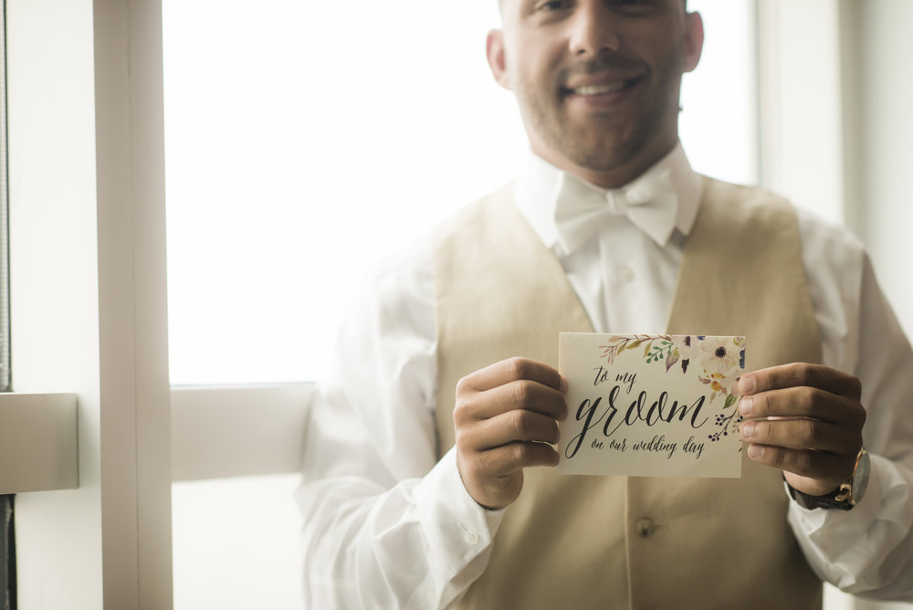 to my groom wedding day card by Grace and Serendipity