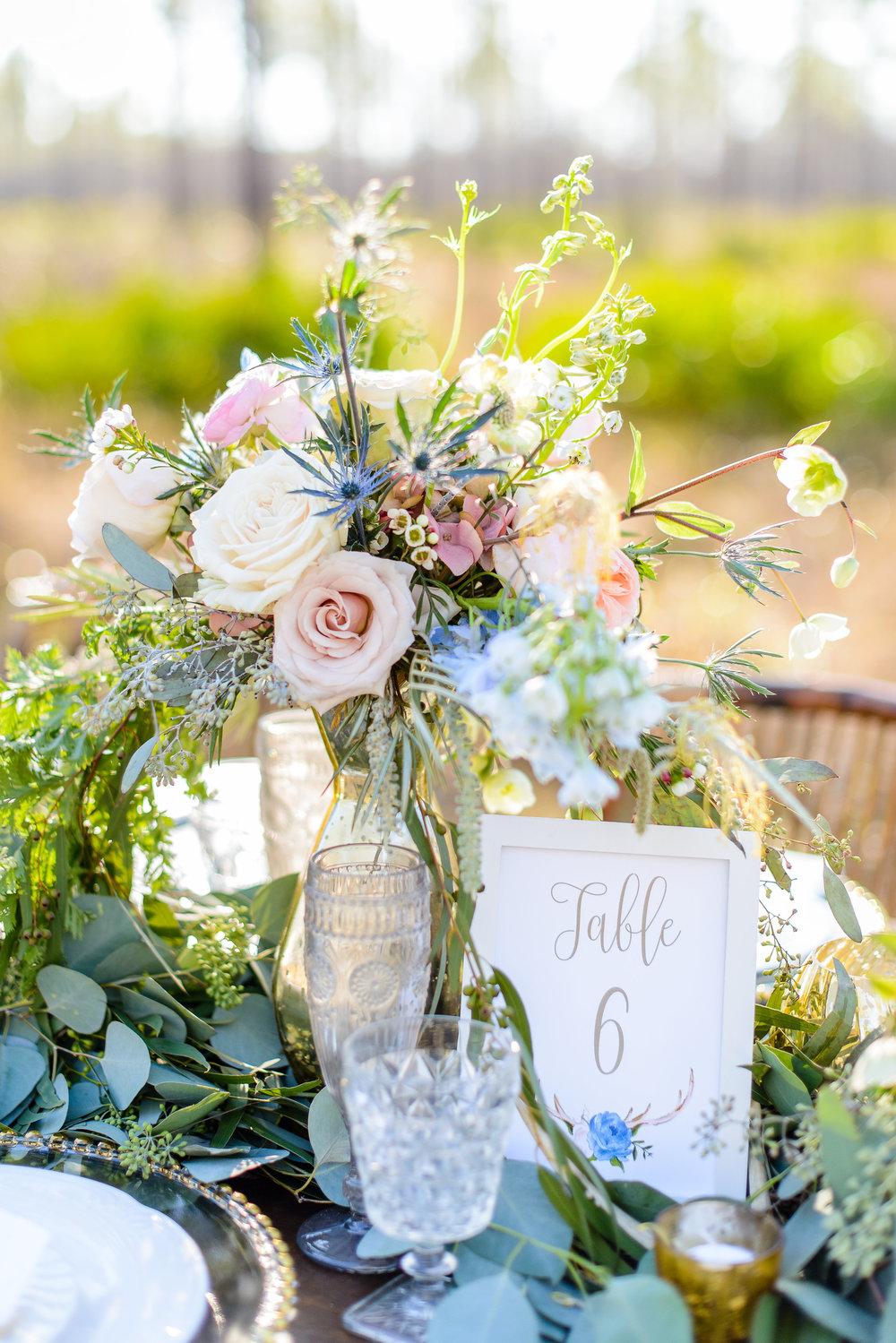 Boho Antler Inspirational Shoot - Table Numbers - published by Weddingstar Magazine - Grace and Serendipity, photography by The Veil Wedding Photography