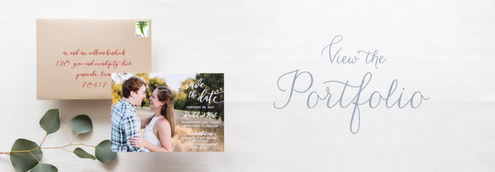 Portfolio for Grace and Serendipity - Pensacola Wedding Invitation Designer