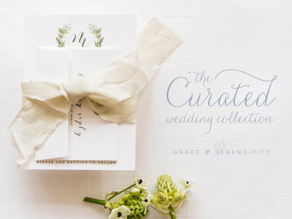 Beloved Greenery Wreath Suite - Wedding Invitation Design by y Pensacola Invitations Designer Grace and Serendipity, inspired by Pantones 2017 Color of the Year