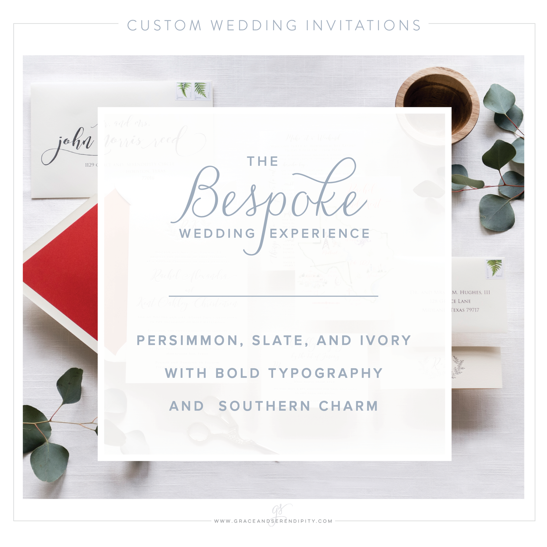 Bespoke Wedding Invitations: Rachel and Kent\'s Persimmon + Slate ...