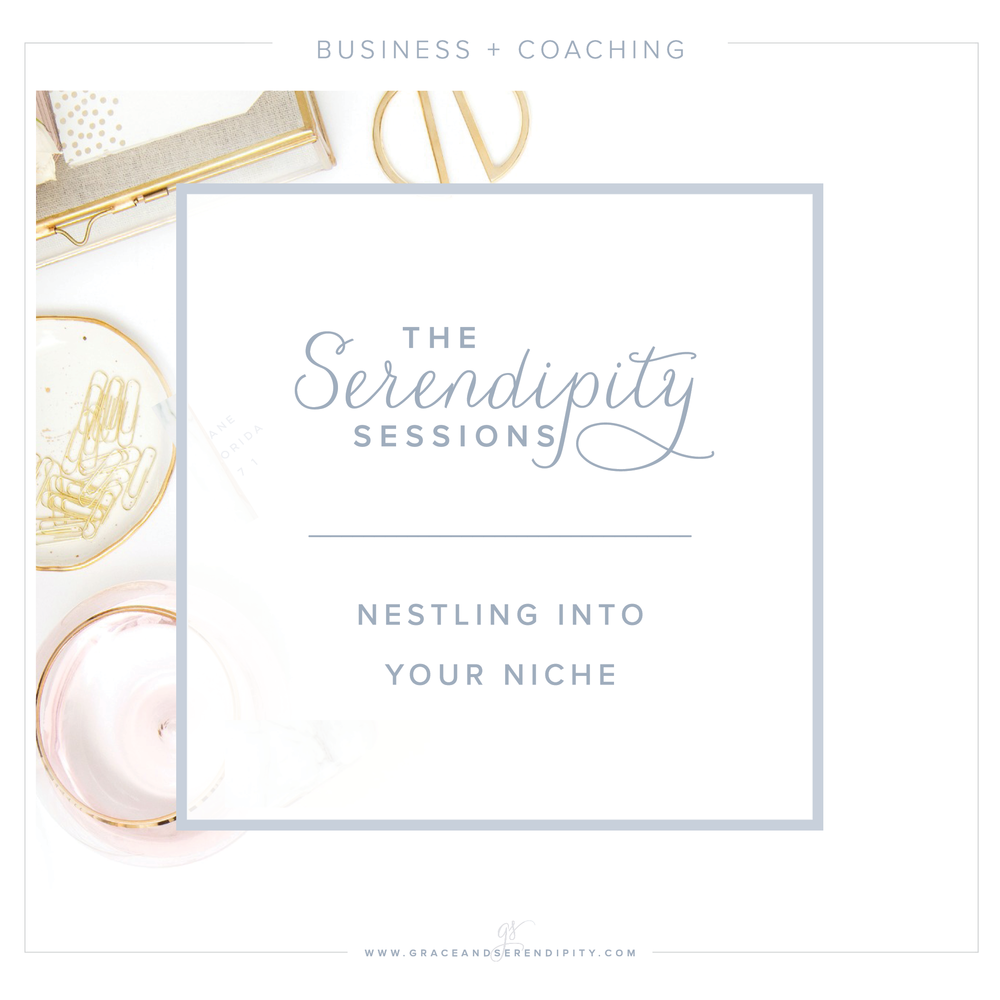 Serendipity Sessions - coaching sessions for creative business owners - nestling into your niche by Grace and Serendipity