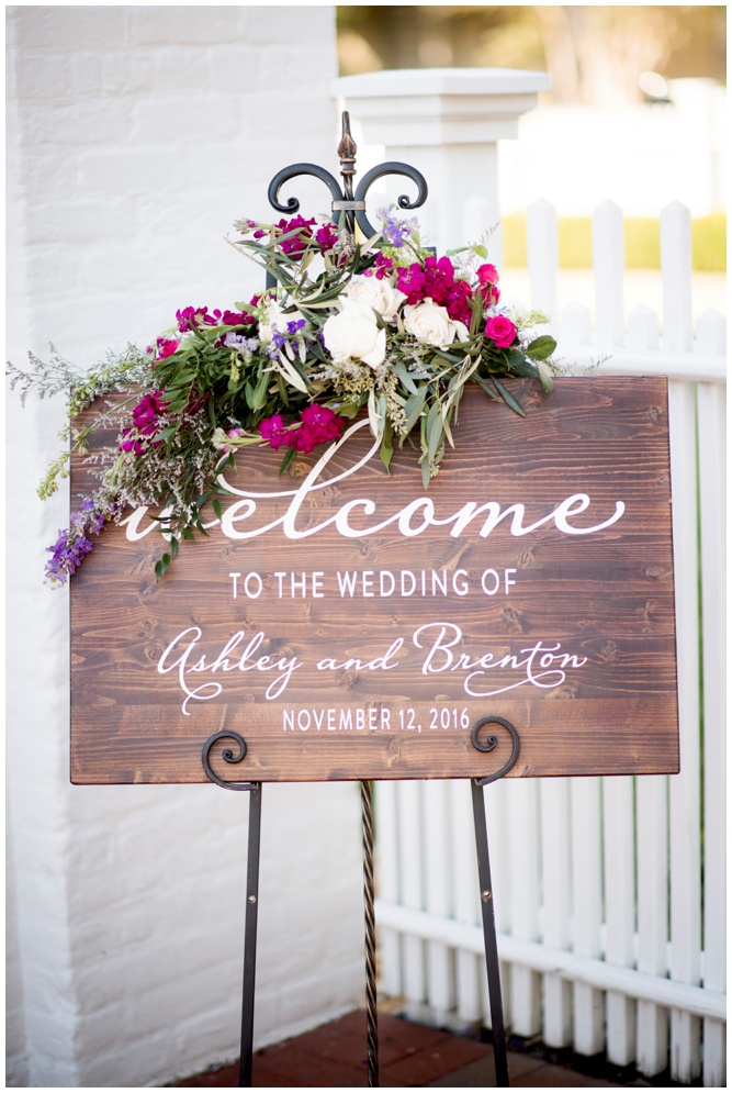 Welcome to Our Wedding Wooden sign - Grace and Serendipity - Coastal Tactics - photography by Aislinn Kate