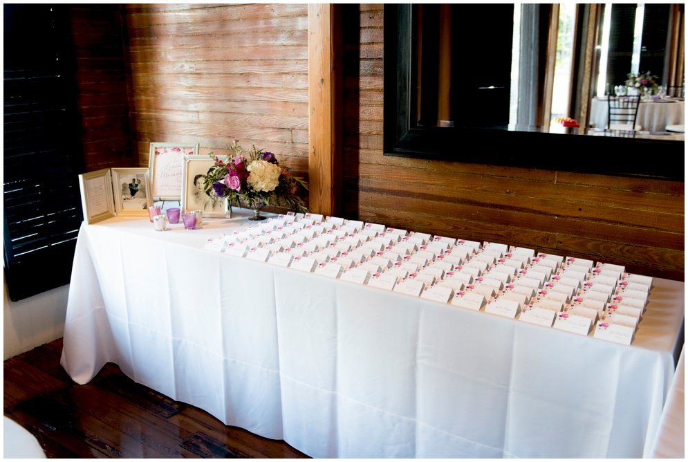 Placecard Table at Palafox Wharf - In Loving Memory sign - Grace and Serendipity - Aislinn Kate Photography
