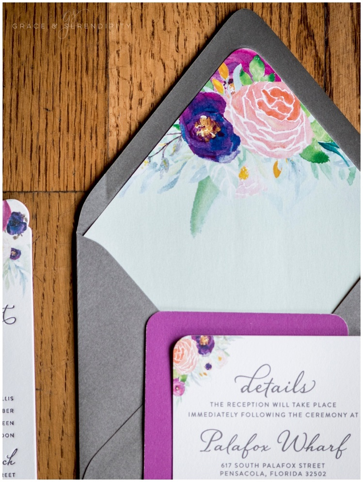 Custom Floral Envelope Liner by Grace and Serendipity - Aislinn Kate Photography