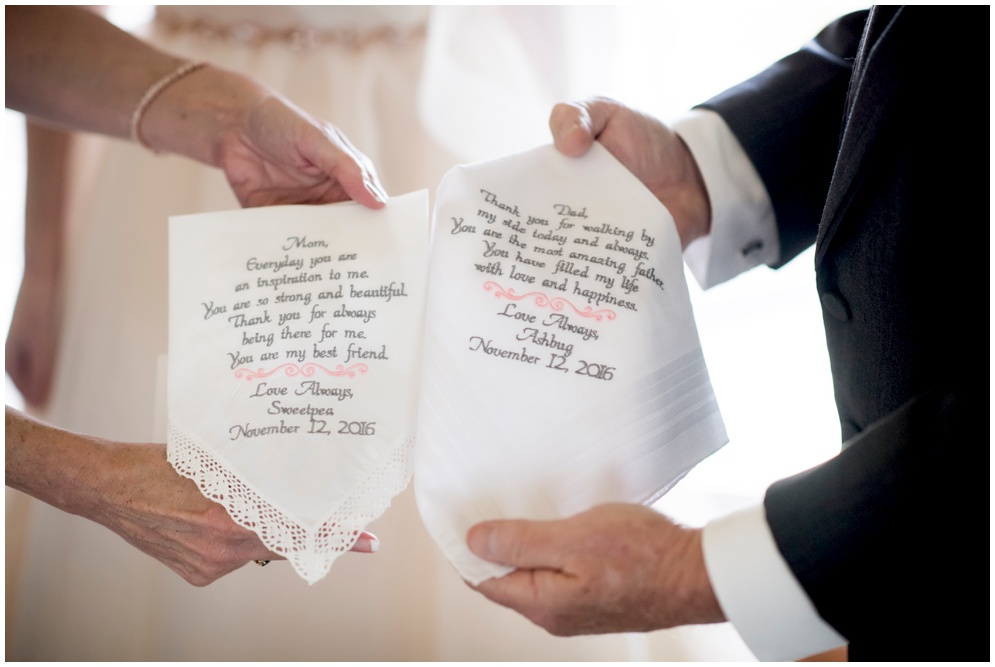 Personalized Wedding Day Parent Handkerchiefs  - Aislinn Kate Photography