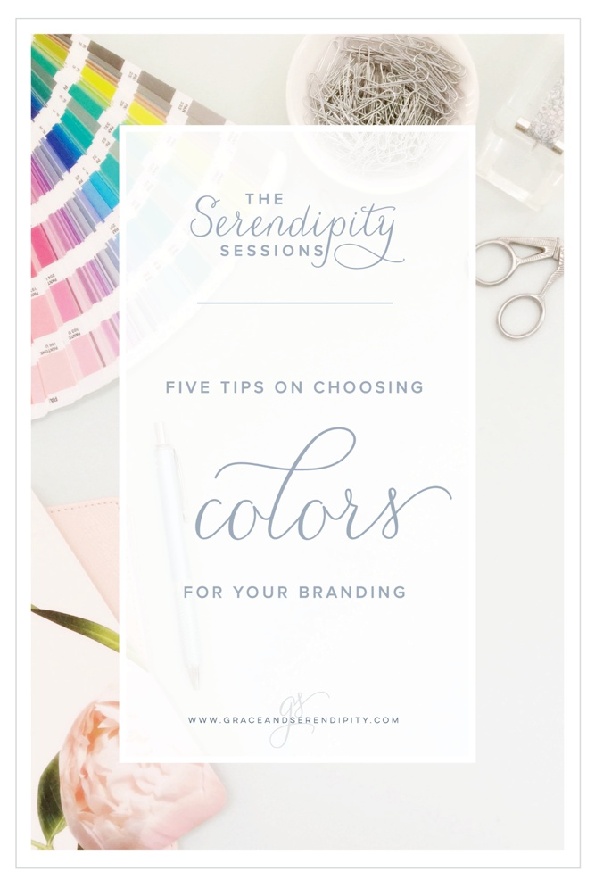 Five Tips for Choosing Colors for your Business Branding by Grace and Serendipity
