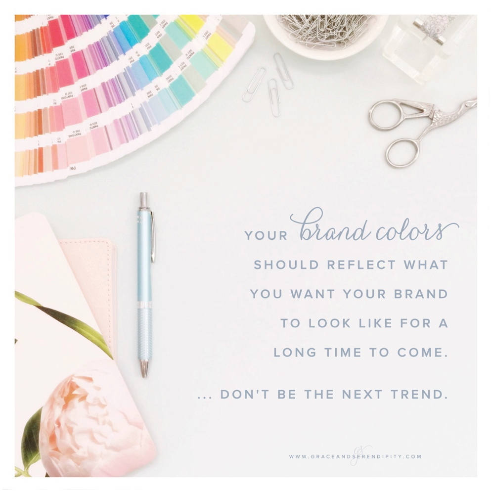 Branding Colors Tips by Grace and Serendipity