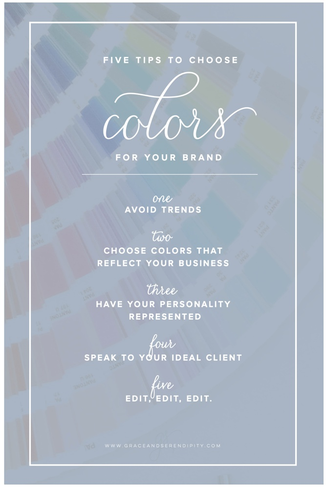 Choosing Branding Colors - Five Tips from Grace and Serendipity