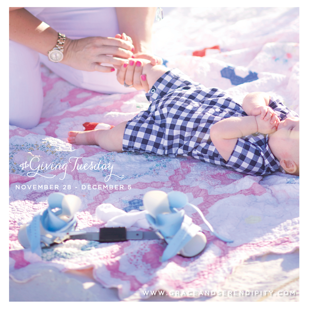 #GIvingTuesday - help support Cure Clubfoot with Grace and Serendipity