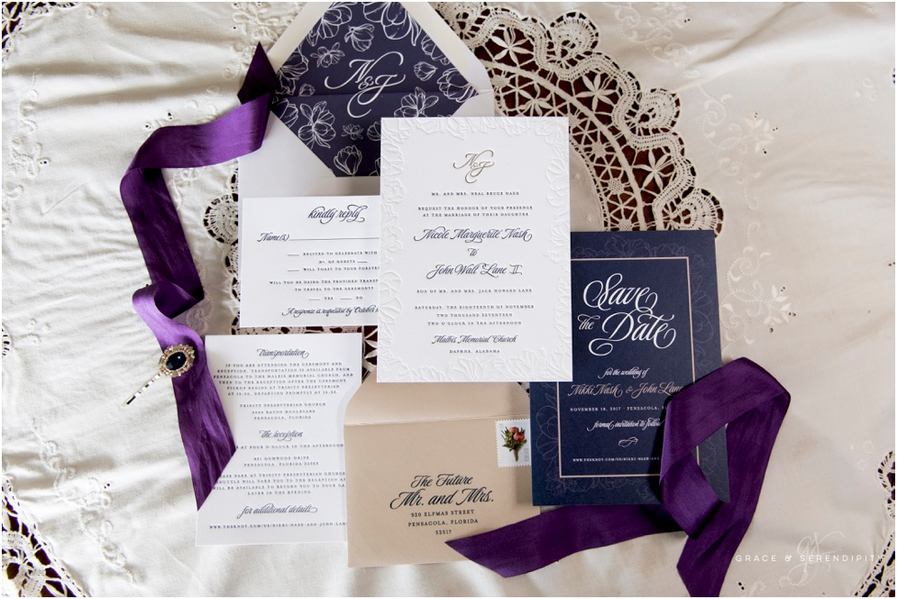 Blind Letterpress Suite by Grace and Serendipity, Photography by Aislinn Kate