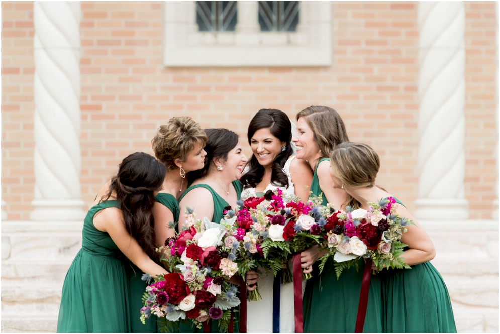 Rich Emerald Color Palette for a wedding with lush florals by Supposey, photography by Aislinn Kate