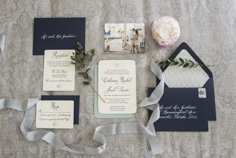 Letterpress Invitation Suite by Grace and Serendipity, Photographed by Aislinn Kate