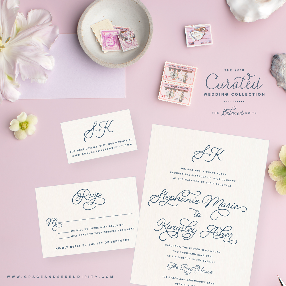 Beloved Suite - Curated Wedding Invitation Collection by Grace and Serendipity