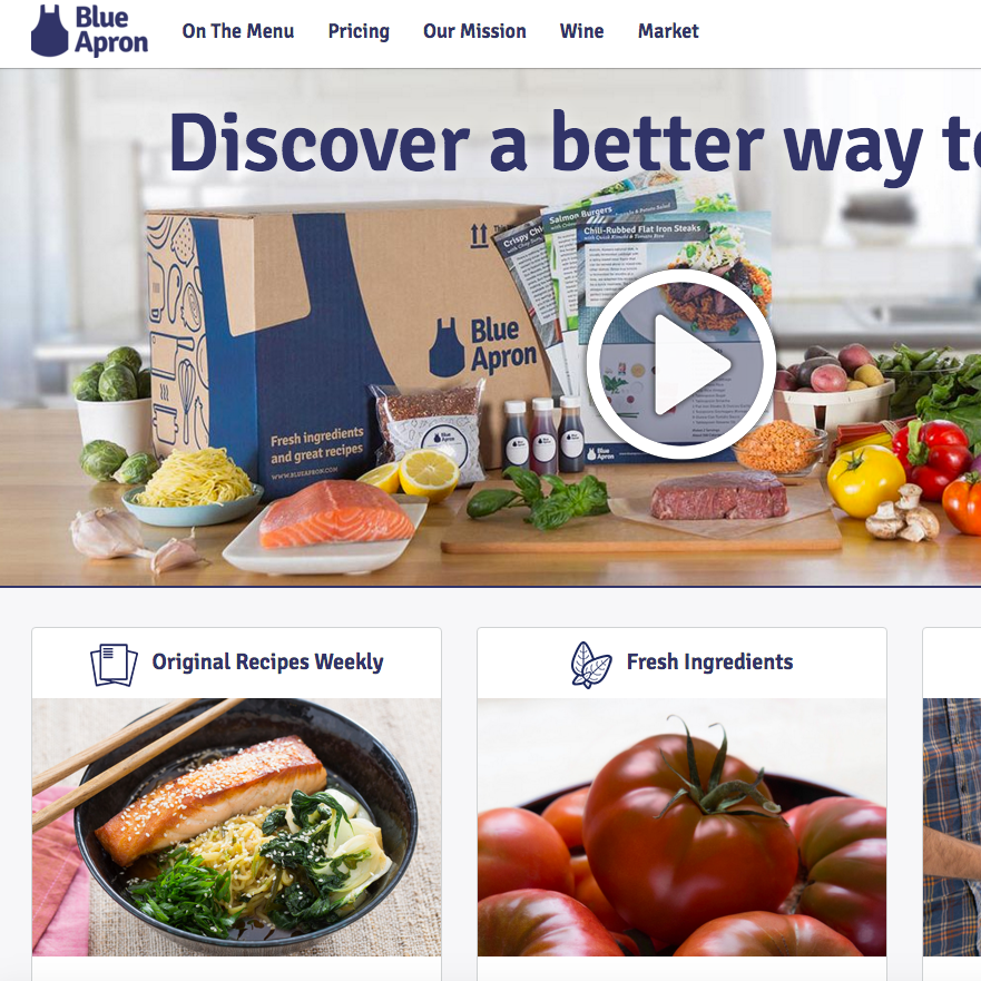Blue Apron: Visual Branding, Photography