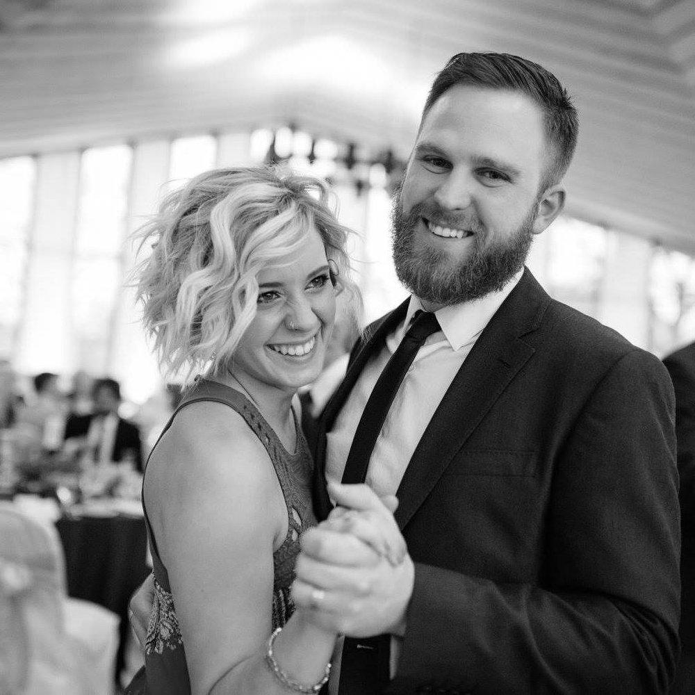 Jordan with his wife, Devon.