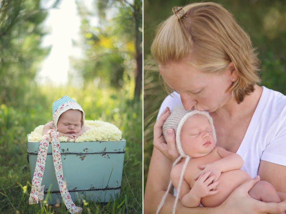 Outdoor Newborn Photo